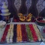 Fontanna czekoladowa i dekoracje owocowe Hotel Czarnuszka