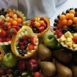 Stół owocowy i dekoracje owocowe - Zamek Topacz Ślęza