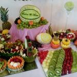 Dekoracje z owoców, bufety owocowe, carving
