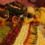 Dekoracyjnie podane owoce - Włocławek, Pałac Bursztynowy