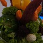 Carvingowa dekoracja z warzyw-Bufet owocowy I Turkowskie Targi Ślubne