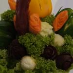 bukiet warzywny, carving