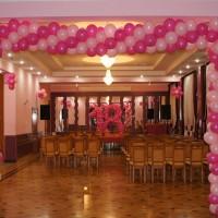 Dekoracje sali balonami, Dom Górnika Kłodawa