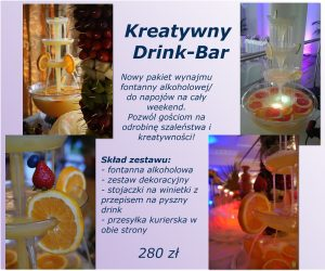 Fontanna alkoholowa, Kreatywny drink-bar