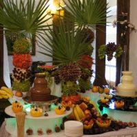 Bufet owocowy, fontanna czekoladowa