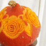 carving, róże w dyni