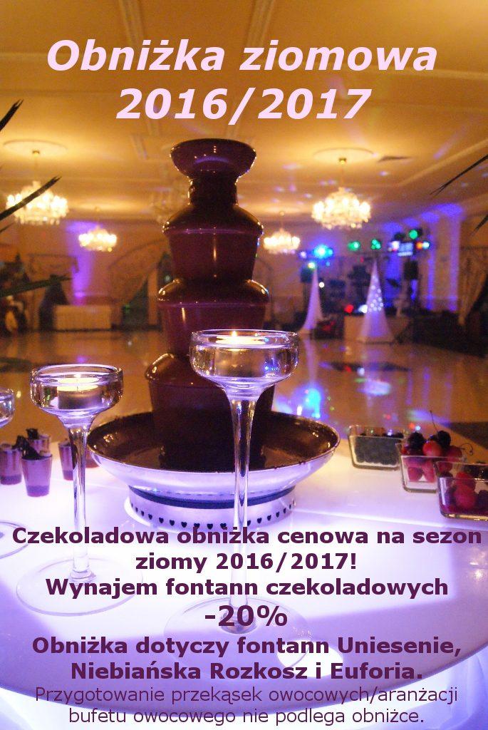Promocja zimowa - fontanny czekoladowe