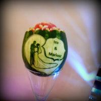 Dekoracje owocowe, carving, fruit carving