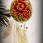 Dekoracje owocowe na wesele bufety owocowe carving Poznań Koło Warszawa