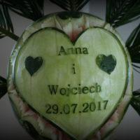 Dekoracje z owoców palmy owocowe stoły z owocami Poznań Konin Turek Kalisz