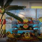 Bufet owocowy, owocowy stół, carving Karczm Biesiadna