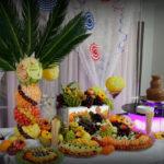 Bufet owocowy fontanna czekoladowa na 18-stkę dekoracje owocowe Kolo Turek Kalisz Konin Sompolno Ślesin