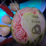 dekoracje owocowe, carving, gala ślubna Koło, Turek, K