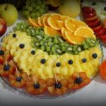 owoce na wesele 18-stkę dekoracje owocowe fontanna czekoladowa Turek Koło Ślesin Sompolno