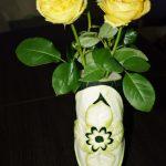 Wazon z cukinii - carving