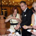 wynajem fontann czekoladowych na przyjęcia weselne