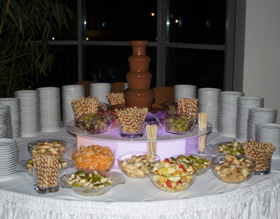 Eventy studenckie z fontanną czekolady