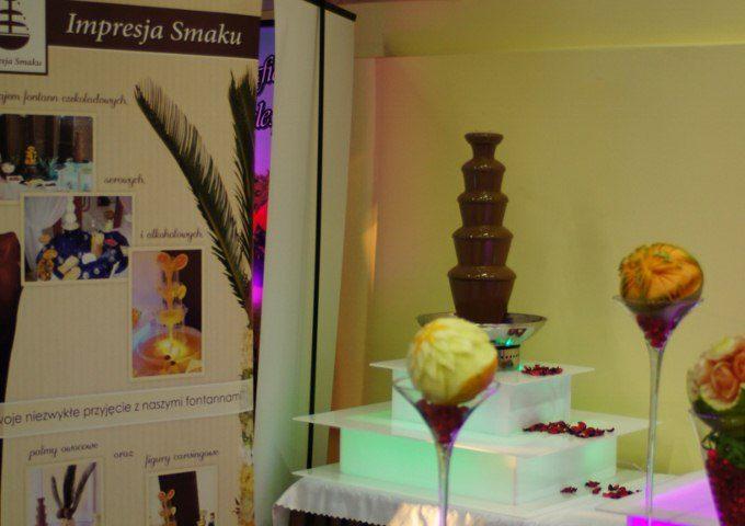 Fontanny czekoladowe, alkoholowe, palmy owocowe i carving