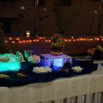 palma owocowa i fontanna czekoladowa