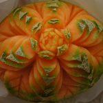 Carving - Kwiat w melonie