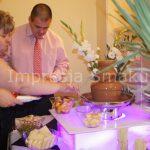Fontanna czekoladowa, fontanna alkoholowa, palma owocowa, carving