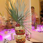 Fontanna do czekolady na przyjęciu weselnym Dworku Czardasz
