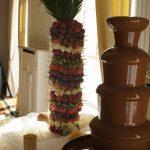 fontanna do czekolady z palmą owocową aleksandrów łódzki