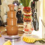 fontanna z czekoladą łódź