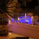 Palma owocowa w otoczeniu fontanny czekoladowej - Słupca