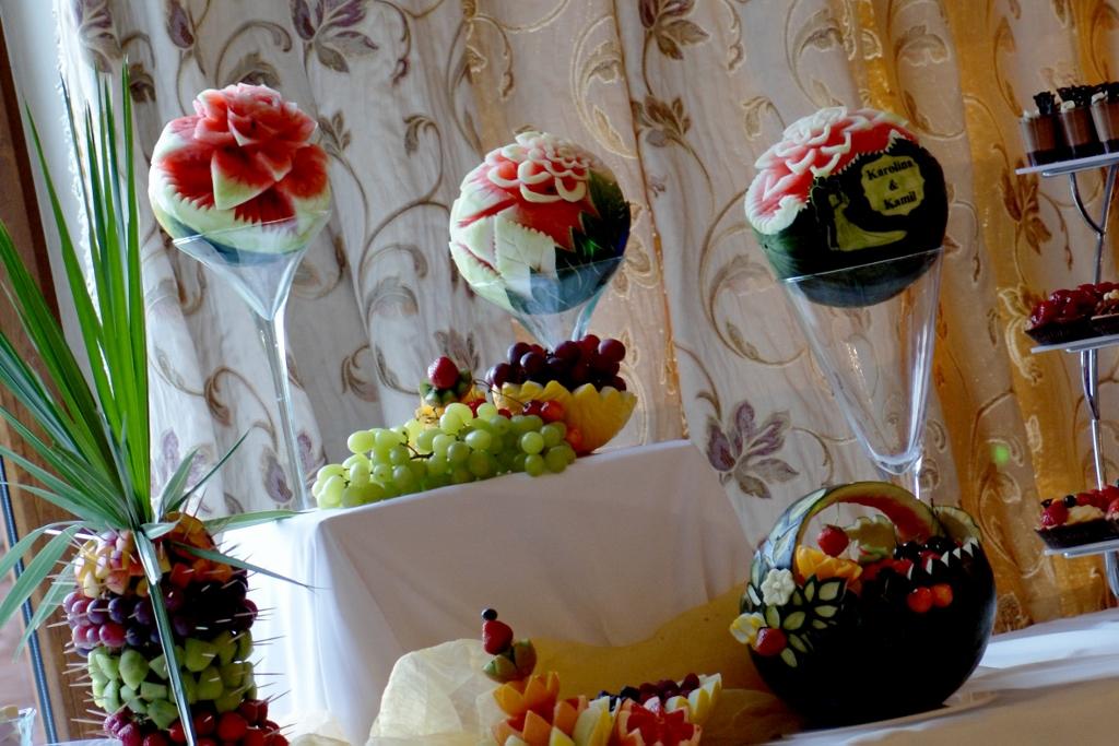 Dekoracje Z Arbuza Carving ślubny Impresja Smaku