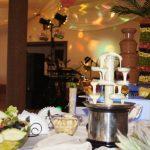 Fontanna Giulietta z białą czekoladą i półmisek z arbuza