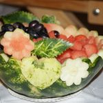 półmisek z owocami z arbuza