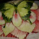 Motyl w arbuzie - carving