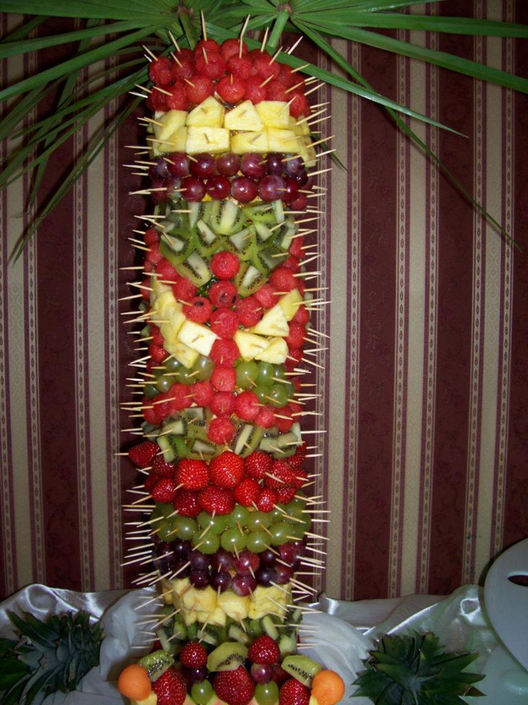 Motyw motyla na palmie owocowej
