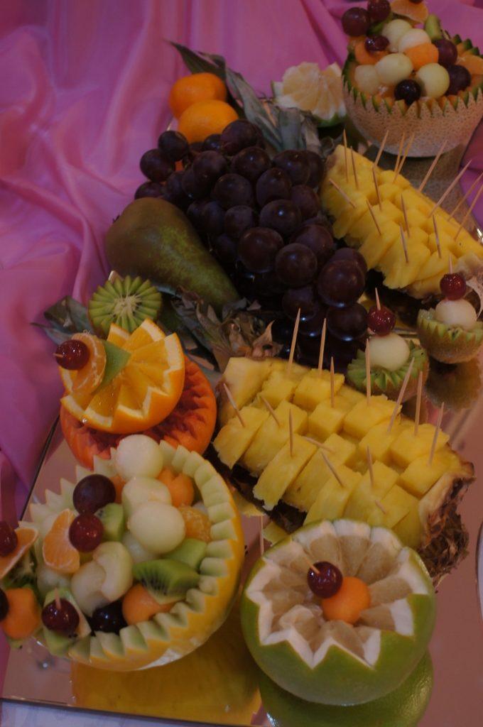 Owocowy bufet, owocowy stół, dekoracje owocowe, fontanny czekoladowe Konin, Turek, Kłodawa, Włocławek