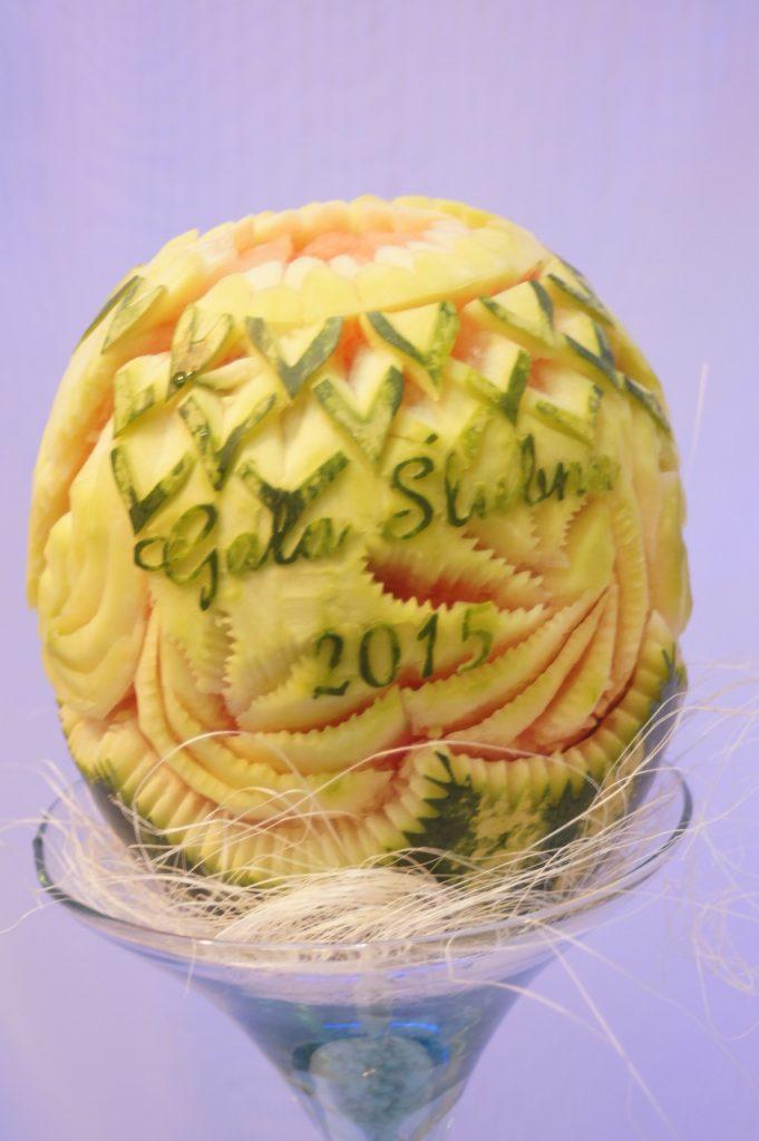carving a arbuzie - Gala Ślubna 2015