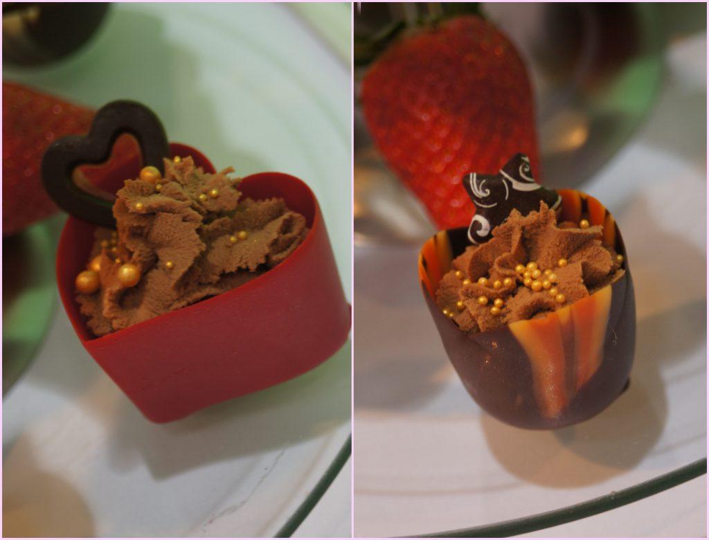Czekoladowe serce z musem czekoladowym1