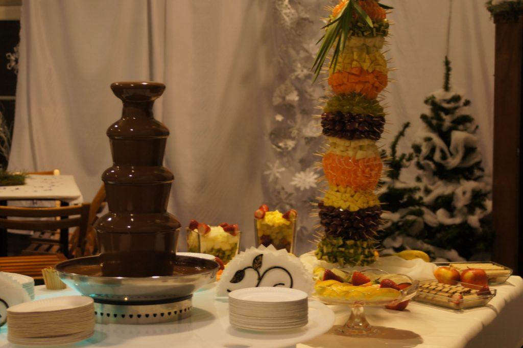 Fontanna z czekolady na studniówce