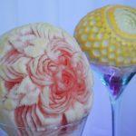 carving - kompozycja róż w arbuzie