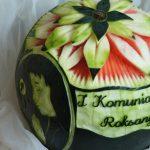 Dekoracje z owoców, carving