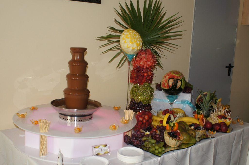 Fontanna czekoladowa i bufet owocowy - OSP Morzyczyn