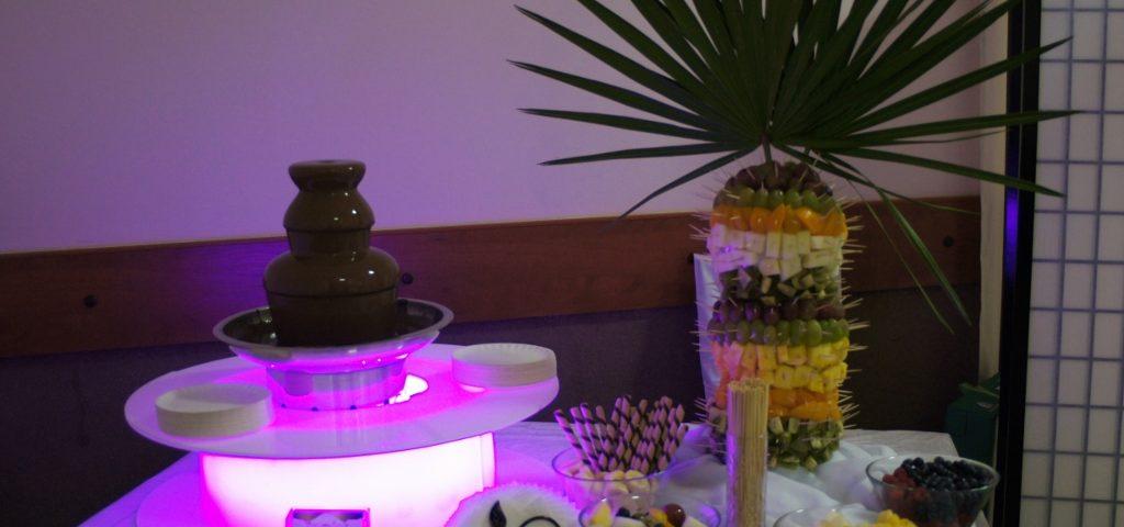 Fontanna czekoladowa i palma owocowa na komunię , Konin