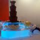 Fontanna czekoladowa na targach dla PGE