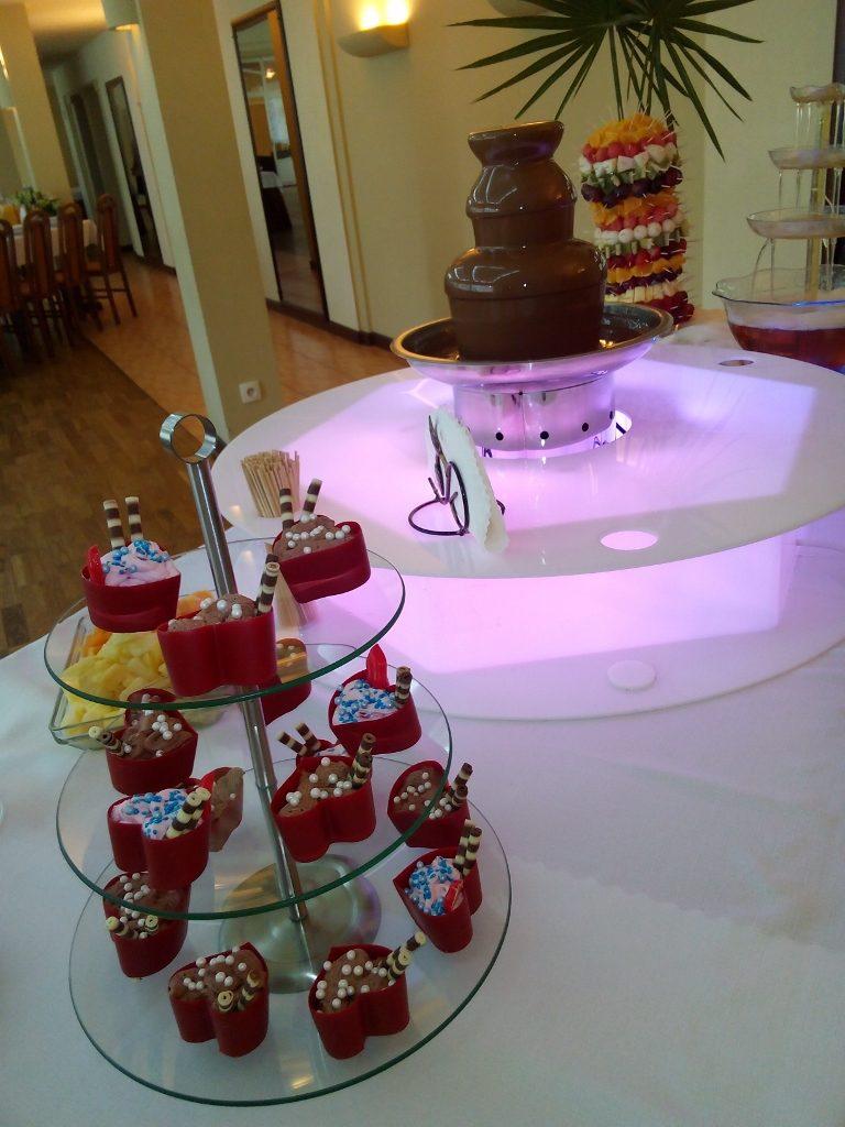 słodki bufet - foremki czekoladowe