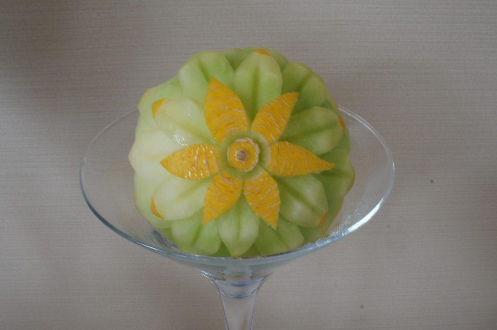 Dekoracja w melonie - carving