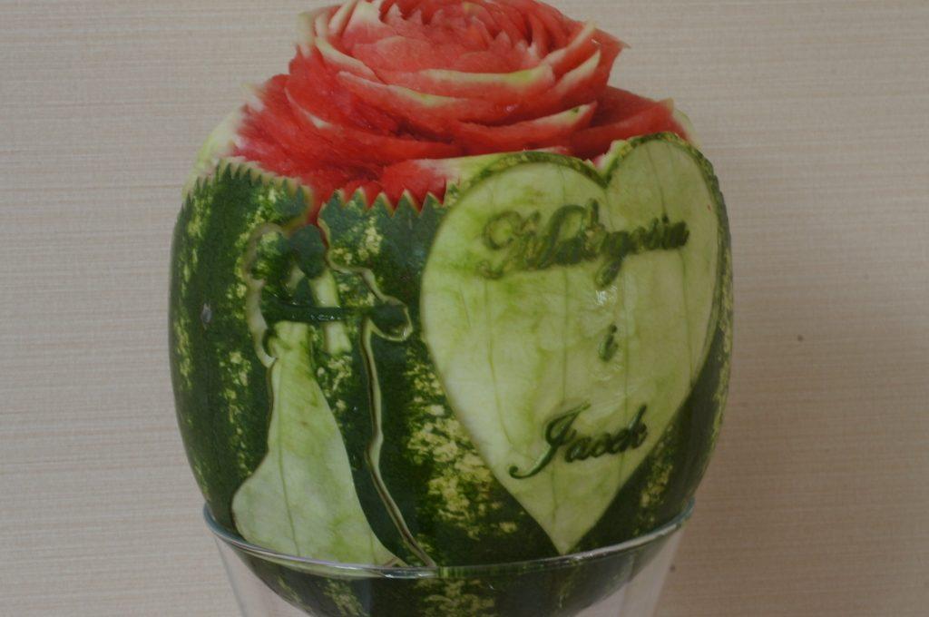 Młoda Para w arbuzie - carving