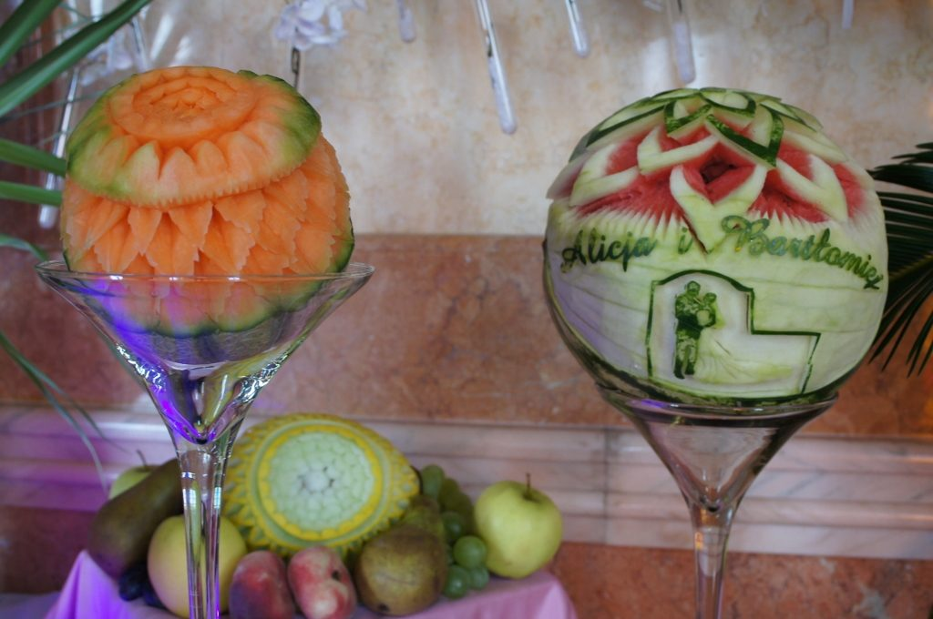 Carving na wesele, dekoracje owocowe i fontanna czekoladowa Włocławek