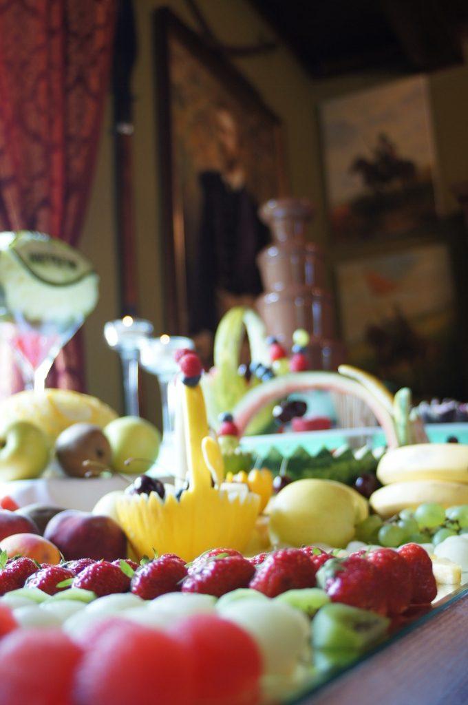 Dekoracje owocowe Bufetu owocowego