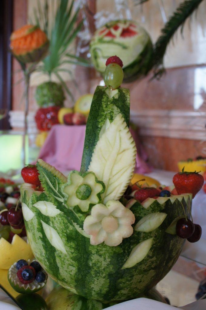 Koszyk z arbuza, carving, bufet owocowy Włocławek