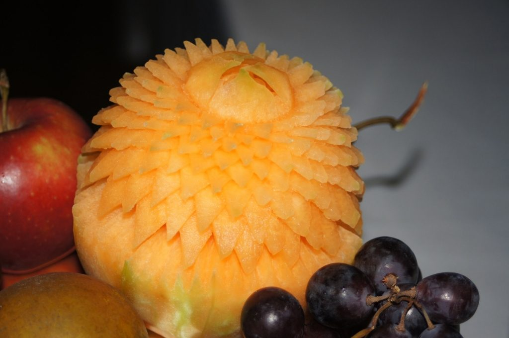 Aster w melonie Cantaloupe
